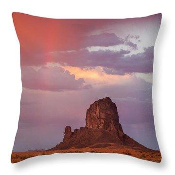 Desert Rainbow Throw Pillow
