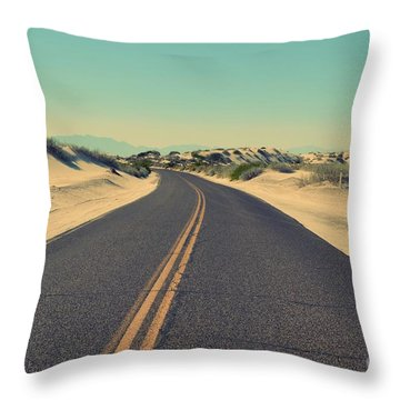 Throw Pillow featuring the photograph Desert Road by MGL Meiklejohn Graphics Licensing