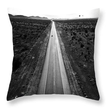 Desert Road Throw Pillow by Scott Pellegrin