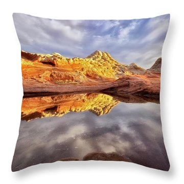 Desert Rock Drama Throw Pillow by Nicki Frates