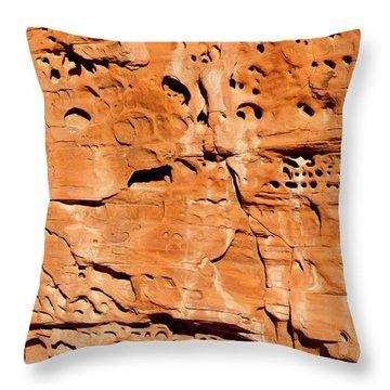 Desert Rock Throw Pillow by Rae Tucker