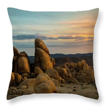 Desert Rocks Throw Pillow