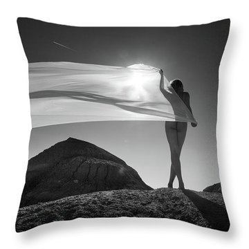 Desert Sail Throw Pillow