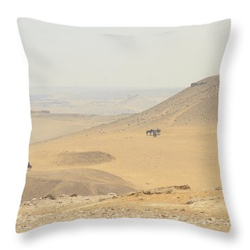 Throw Pillow featuring the photograph Desert by Silvia Bruno