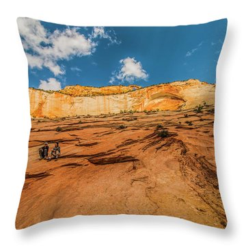Desert Solitaire With A Friend Throw Pillow