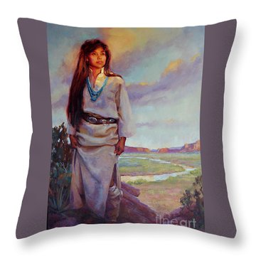 Desert Song Throw Pillow