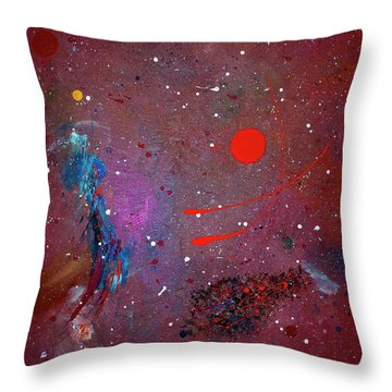 Throw Pillow featuring the painting Desert Song by Michael Lucarelli