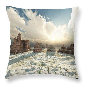 Desert Splendor Throw Pillow by Julie Grace