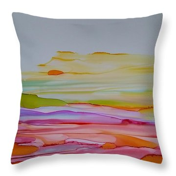 Desert Steppe Throw Pillow
