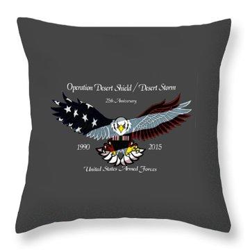 Desert Storm 25th Anniversary Throw Pillow