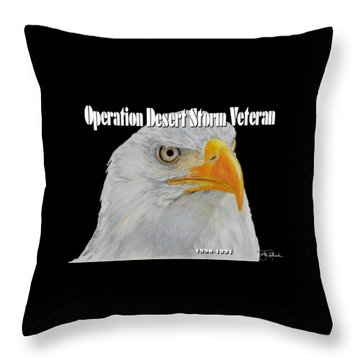 Desert Storm Eagle Throw Pillow by Bill Richards