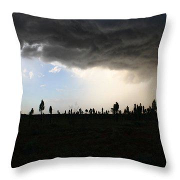 Throw Pillow featuring the photograph Desert Storm Near Uluru In The Northern Territory by Keiran Lusk