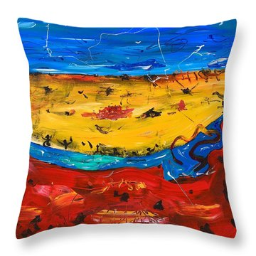 Desert Stream Throw Pillow