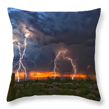 Desert Strike Throw Pillow
