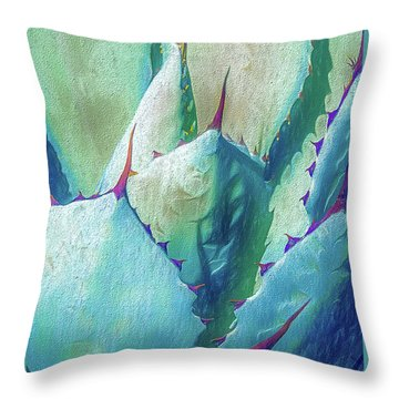 Throw Pillow featuring the photograph Desert Succulent by Julie Palencia