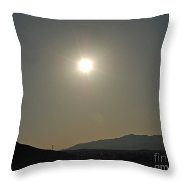 Desert Sun Throw Pillow by Walter Chamberlain
