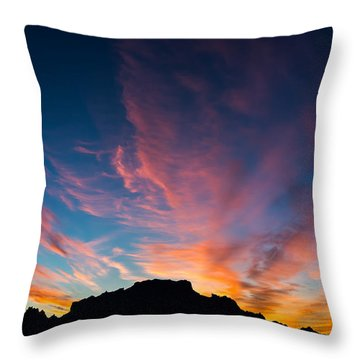 Throw Pillow featuring the photograph Desert Sunrise by Mary Hone
