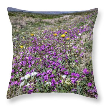 Throw Pillow featuring the photograph Desert Super Bloom by Peter Tellone