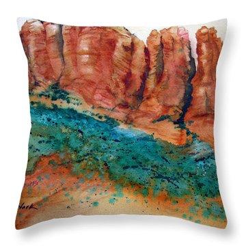 Desert Towers Throw Pillow by Karen Stark