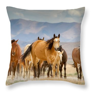 Desert Travelers Throw Pillow