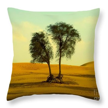 Desert Trees Throw Pillow