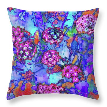 Throw Pillow featuring the photograph Desert Vibe Bloom by Michael Hope