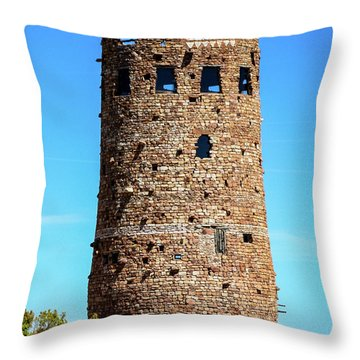 Desert View Watchtower At The Grand Canyon Throw Pillow