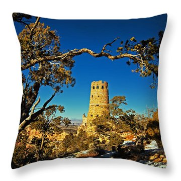 Desert View Watchtower, Grand Canyon National Park, Arizona Throw Pillow