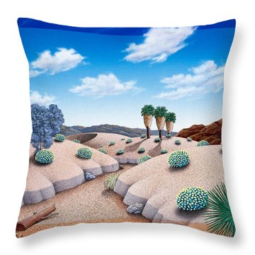 Desert Vista 2 Throw Pillow by Snake Jagger