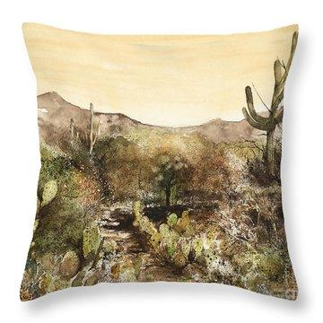 Desert Walk Throw Pillow