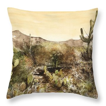 Desert Walk Throw Pillow