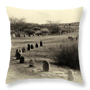 Desert Ways Throw Pillow by Arik Baltinester