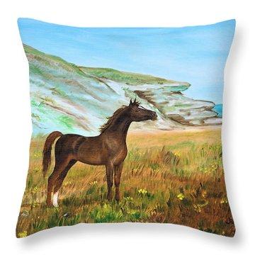 Desert Wind Throw Pillow by Jan Amiss