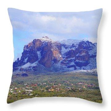 Desert Winter Throw Pillow