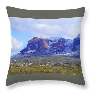 Desert Winter Throw Pillow