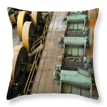 Throw Pillow featuring the photograph Deserted Factory by Yali Shi