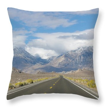 Deserted Road To Mt. Whitney Throw Pillow