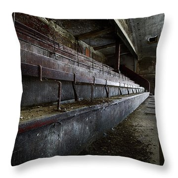 Throw Pillow featuring the photograph Deserted Theatre Steps - Urban Exploration by Dirk Ercken