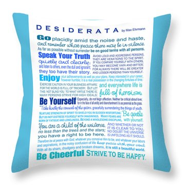 Desiderata - Blues - Rectagular Format Throw Pillow by Ginny Gaura