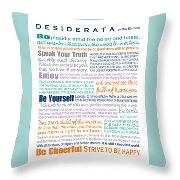 Desiderata - Multi-color - Rectangular Format Throw Pillow by Ginny Gaura