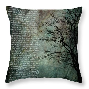 Desiderata Of Happiness - Vintage Art By Jordan Blackstone Throw Pillow