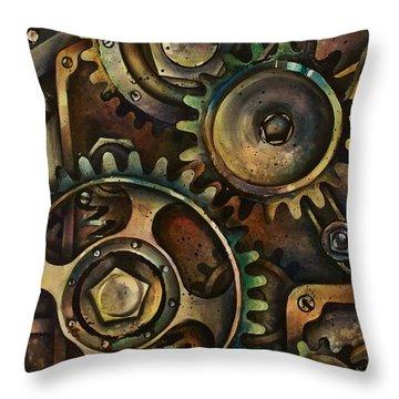 Design 3 Throw Pillow by Michael Lang