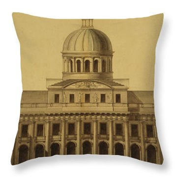 Design For Us Capitol, 1793 Throw Pillow