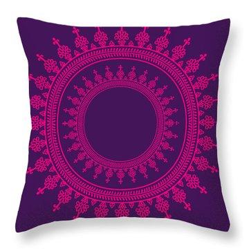 Design In Pink Throw Pillow