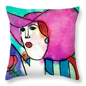 Design Lady Throw Pillow by Jessie Abrams Age Eleven