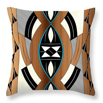 Southwest Collection - Design Two In Blue Throw Pillow