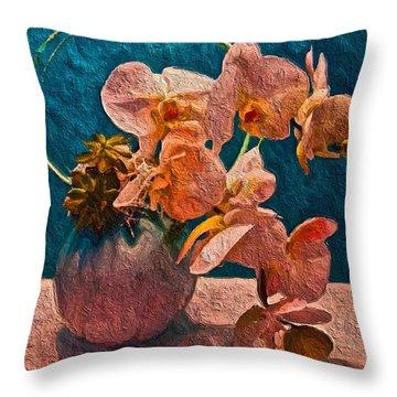 Designer Floral Arrangement Throw Pillow