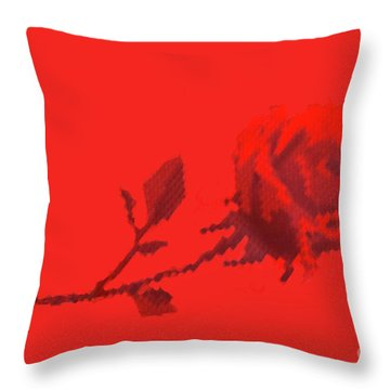 Throw Pillow featuring the photograph Designer Red Rose by Linda Phelps