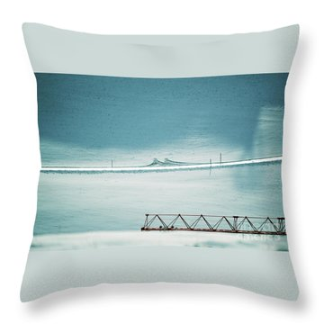 Throw Pillow featuring the photograph Designs And Lines - Winter In Switzerland by Susanne Van Hulst