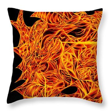 Throw Pillow featuring the drawing Desire Flair by Jamie Lynn